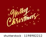 merry christmas   a vector... | Shutterstock .eps vector #1198982212