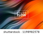 modern colorful flow poster.... | Shutterstock .eps vector #1198982578