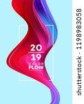 modern colorful flow poster.... | Shutterstock .eps vector #1198983058
