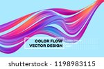 modern colorful flow poster.... | Shutterstock .eps vector #1198983115