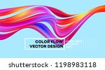 modern colorful flow poster.... | Shutterstock .eps vector #1198983118