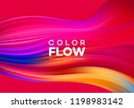 modern colorful flow poster.... | Shutterstock .eps vector #1198983142