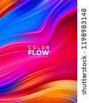 modern colorful flow poster.... | Shutterstock .eps vector #1198983148