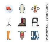 urban icon set. vector set... | Shutterstock .eps vector #1198986898