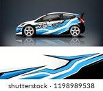 car decal wrap design vector.... | Shutterstock .eps vector #1198989538