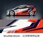 car decal wrap design vector.... | Shutterstock .eps vector #1198989628