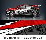 car decal wrap design vector.... | Shutterstock .eps vector #1198989805