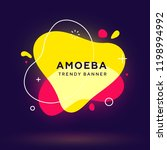 modern abstract neon vector... | Shutterstock .eps vector #1198994992