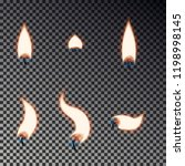 candle flame set isolated on... | Shutterstock .eps vector #1198998145