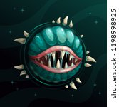 cartoon creepy monster planet... | Shutterstock .eps vector #1198998925