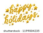 happy holidays. gold glossy... | Shutterstock .eps vector #1199004235