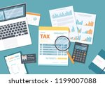 tax payment concept. state... | Shutterstock .eps vector #1199007088
