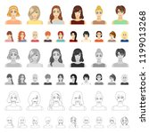 women s clothing cartoon icons... | Shutterstock .eps vector #1199013268
