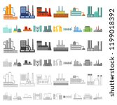 factory and facilities cartoon...   Shutterstock .eps vector #1199018392