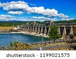 Bonneville Dam on the Columbia River in Oregon.