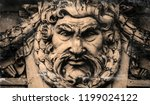 antique statue of god zeus.... | Shutterstock . vector #1199024122