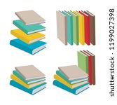 book. flat style pile of books... | Shutterstock .eps vector #1199027398