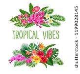 tropical banners with jungle... | Shutterstock .eps vector #1199028145