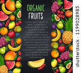 fruits and berryes design page  ... | Shutterstock .eps vector #1199028985