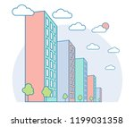 nice city landscape view with... | Shutterstock .eps vector #1199031358
