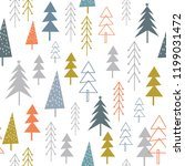seamless christmas background... | Shutterstock .eps vector #1199031472