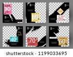 editable post template social... | Shutterstock .eps vector #1199033695