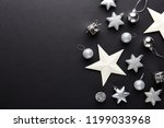 beautiful christmas silver deco ... | Shutterstock . vector #1199033968