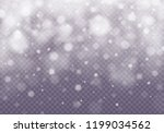 snow and wind on a transparent... | Shutterstock .eps vector #1199034562