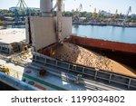 levator crane loads ship holds ...   Shutterstock . vector #1199034802