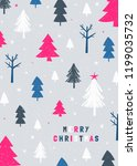 christmas design with trees in... | Shutterstock .eps vector #1199035732