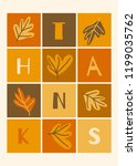 autumn design with colorful... | Shutterstock .eps vector #1199035762