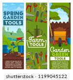 farm tools and gardening...   Shutterstock .eps vector #1199045122