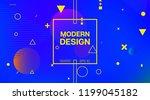 bauhaus memphis minimal... | Shutterstock .eps vector #1199045182