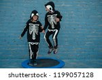 cute children dressed up to...   Shutterstock . vector #1199057128
