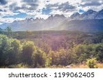 mountains at tierra del fuego ... | Shutterstock . vector #1199062405