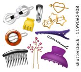 hair accessory vector hairpin... | Shutterstock .eps vector #1199062408
