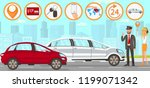 taxi and driver services in... | Shutterstock .eps vector #1199071342