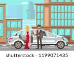 taxi and driver services in... | Shutterstock .eps vector #1199071435