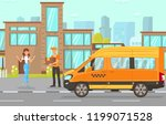 delivery service concept.... | Shutterstock .eps vector #1199071528