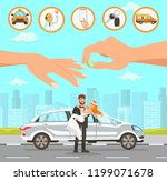 taxi and driver services at... | Shutterstock .eps vector #1199071678