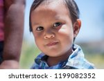 smart 2 year old boy with... | Shutterstock . vector #1199082352