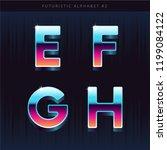 retro sci fi futuristic... | Shutterstock .eps vector #1199084122