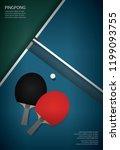 pingpong poster template vector ... | Shutterstock .eps vector #1199093755