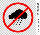 rain  weather icon. not allowed ... | Shutterstock .eps vector #1199101282