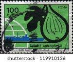turkey  circa 1973  a stamp... | Shutterstock . vector #119910136
