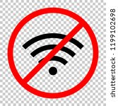 wi fi icon. not allowed  black... | Shutterstock .eps vector #1199102698