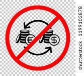 change money icon. not allowed  ...   Shutterstock .eps vector #1199102878