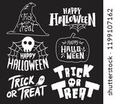 set of happy halloween vectors | Shutterstock .eps vector #1199107162