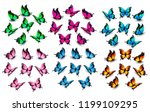 colorful butterflies set.... | Shutterstock .eps vector #1199109295