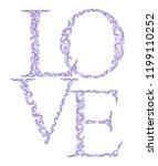 hand drawn   love front   lined ... | Shutterstock .eps vector #1199110252